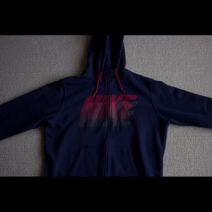 NIKE ZIP HOODED FLEECE SWEATSHIRT